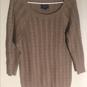 American Eagle Beige Sweater, XL